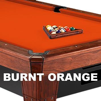 8u0027 Simonis 860 Burnt Orange Pool Table Cloth Felt