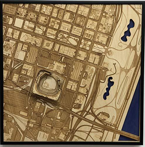 Busch Stadium Aerial - St. Louis, Missouri City Map by Stadium Map Art | Cardinals Stadium Poster | Busch Stadium 3D | Sports Decor with 3D Stadium Art