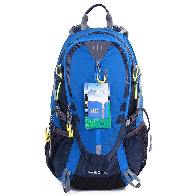 EGOGO 30L al aire libre ciclismo senderismo mochila resistente al agua corriendo mochila Camping con lluvia cubierta S2310: Amazon.es: Deportes y aire libre