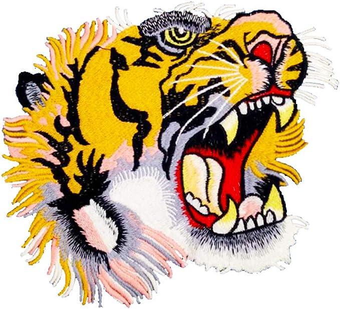 Ruikey Bordado Patch Escudo de Coser, diseño de Tigre Adhesivo de ...