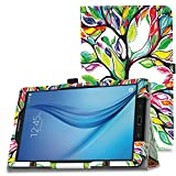 MoKo Samsung Galaxy Tab E 9.6 Case - Slim Folding Cover for Samsung Galaxy Tab E Wi-Fi / Tab E Nook 9.6-Inch Tablet Verizon 4G LTE Version, Lucky TREE (NOT FIT Tab E 8.0 inch Tablet)