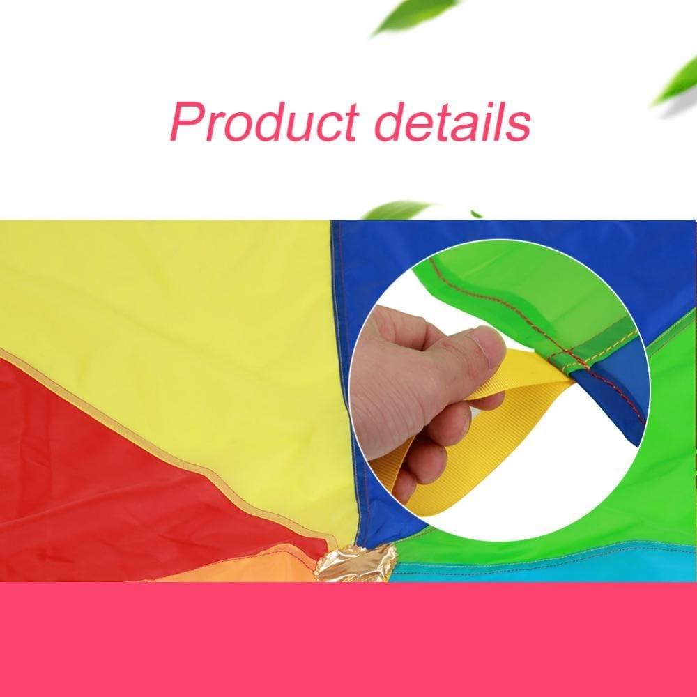 3m Pasamer Umbrella Rainbows Jouet Enfants Dr/ôle Parachute Rainbows Umbrella Enfants D/ébut Jeux /Éducatifs en Plein Air Parachute pour La Maternelle Pr/éscolaire Party Favor