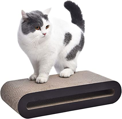 18 x 4 x 8.5 Inches Small Basics Oval Cardboard Cat Scratcher Lounger
