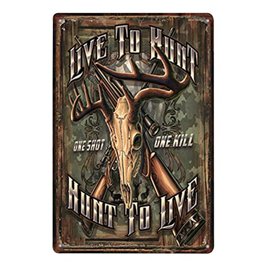 Doitsa 1x Retro Cartel de Chapa Placa Metal Tin Sign - Hunt ...