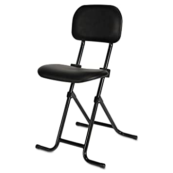 Incredible Alera Plus Cs612 Il Series Height Adjustable Folding Stool Black Evergreenethics Interior Chair Design Evergreenethicsorg