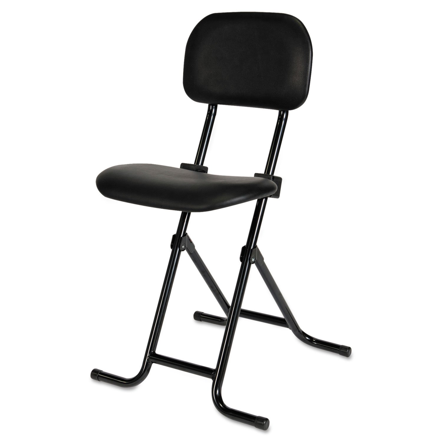 Alera Plus CS612 IL Series Height-Adjustable Folding Stool, Black