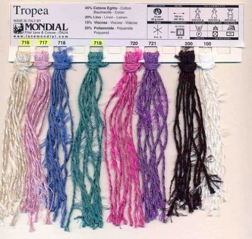 Mondial Tropea 50 G 717 717717 rosa palo 45% algodón 20% lino ...