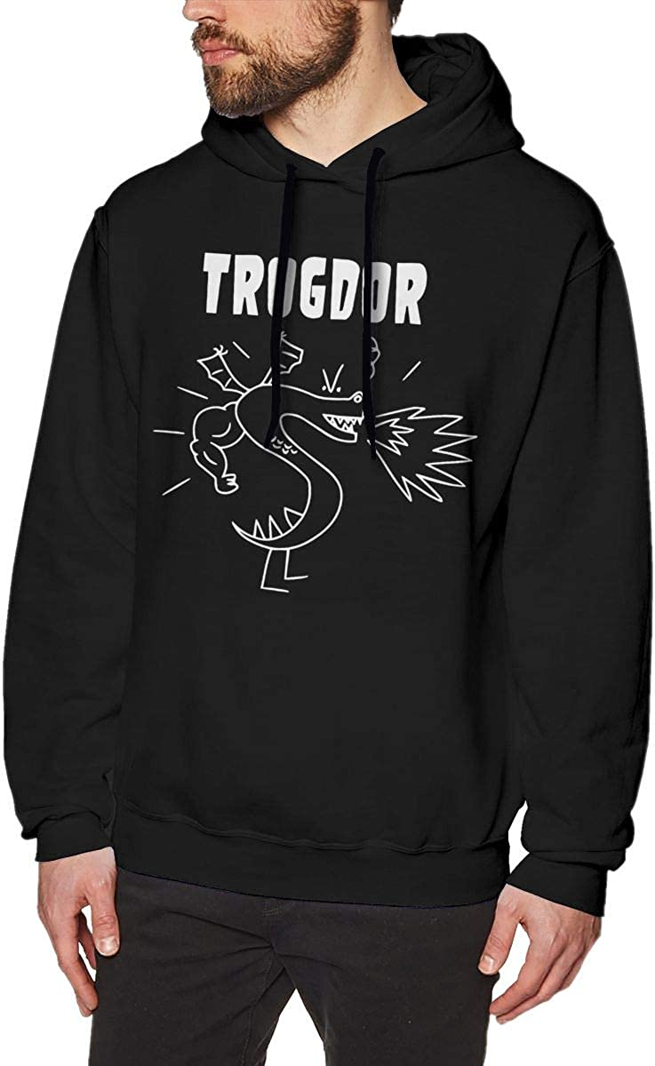 MUSICOT Trog-dor Rulez Mens Pullover Hooded Sweatshirt Cozy Sport Outwear Black
