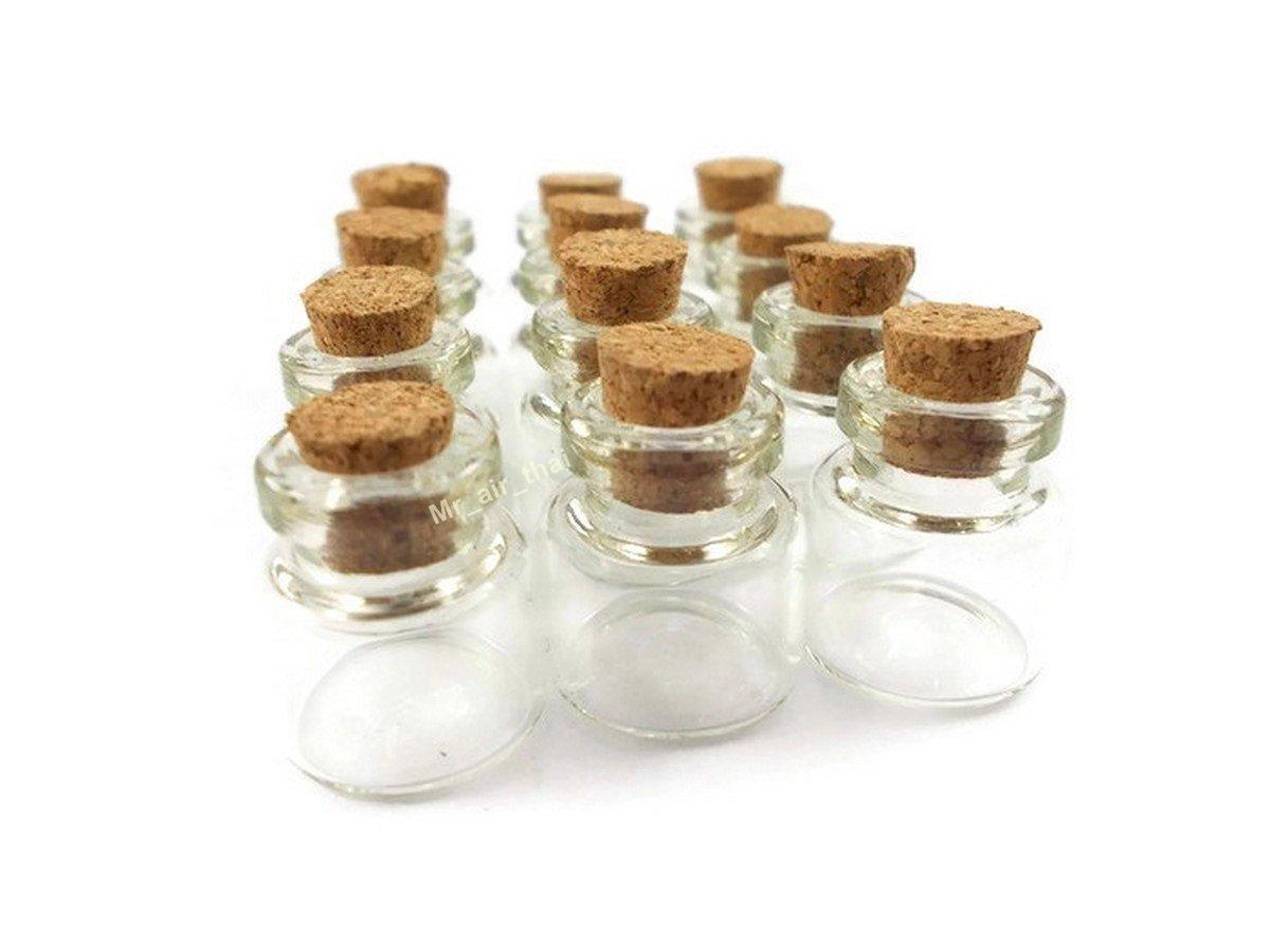 12 Lot of BOTTLES MINIATURES BOTTLE WITH CORKS SHAPE STORAGE DISPLAY GLASS BOTTLES Mr/_air/_thai