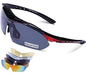 452e33e8a0 Carfia Gafas de Sol Deportivas para Hombre y Mujer Gafas de Sol Polarizadas  Protección UV400 con