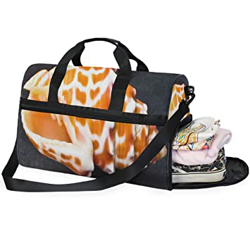 Big Elephant Baby Large Canvas shoulder bag with Shoe Compartment Travel Tote Luggage Weekender Duffle Bag
