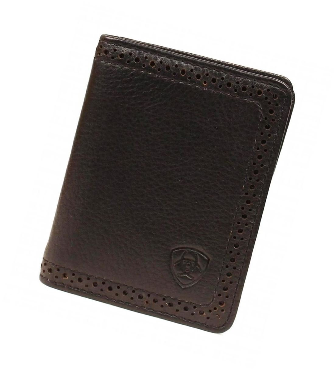 Ariat Ariat Shield Perforated Edge Bi-Fold Wallet Wallet Black One Size