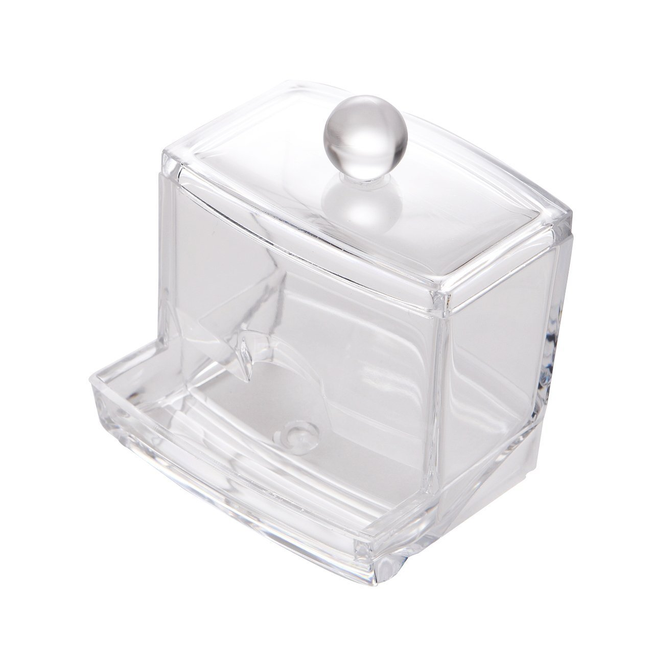 Clear Acrylic Cotton Wool Bud Dispenser Organiser Container Display 2130:  Amazon.co.uk: Beauty
