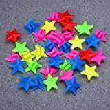 HEALTHLL 26/36Pcs Plastic Multi Colored Bicycle Wheel Spoke Beads Children Kids Clip Decoration Bicycle Decorate Accessories 36pcs Star