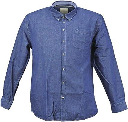Maxfort E1261 - Camisa Vaquera para Hombre con Bolsillo Turquesa 7XL: Amazon.es: Ropa y accesorios