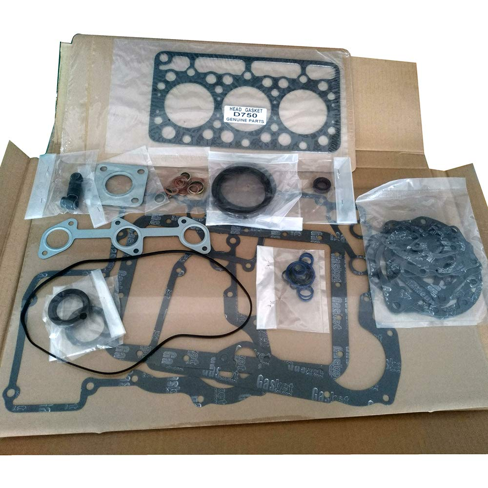 FridayParts Upper Gasket Set 15371-03310 for Kubota D750 Engine B5200 B7100 Tractor