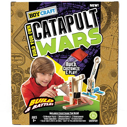 Boy Craft Catapult Wars by Horizon Group USA (Wood Building Kits Boys)