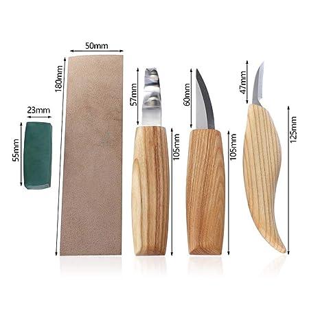 FOONEE - Kit de Cuchillos para tallar Calabazas de Madera ...