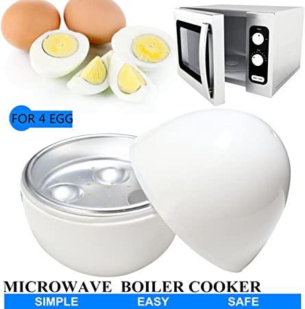 BESTOMZ Huevo de la Microondas Huevos de la bandeja Huevera ...