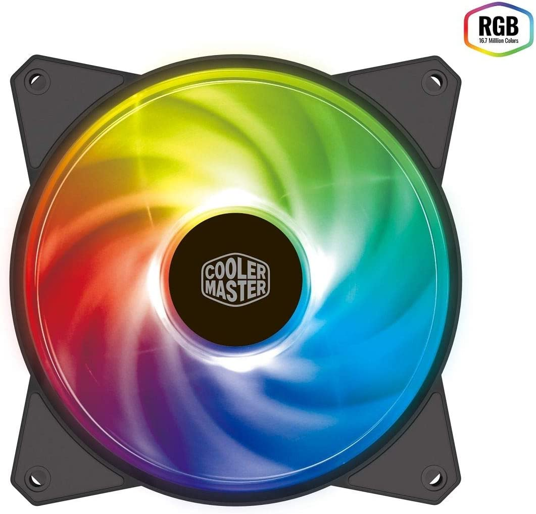 Cooler Master MasterFan MF120R RGB Case Fan 'RGB LED, Silent Cooling Technology, 120mm' R4-C1DS-20PC-R1