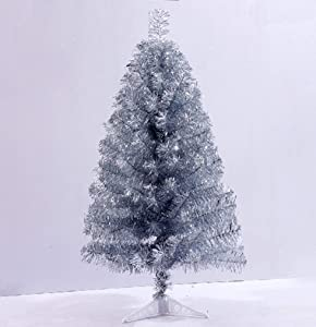Jackcsale 2 Foot Artificial Christmas Tree Xmas Pine Tree with PVC Leg Stand Base Holiday Decoration Silver