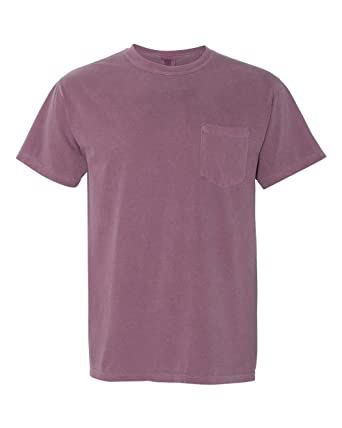 79adcb791ab5 Comfort Colors 6.1 oz. Garment-Dyed Pocket T-Shirt, Small, BERRY