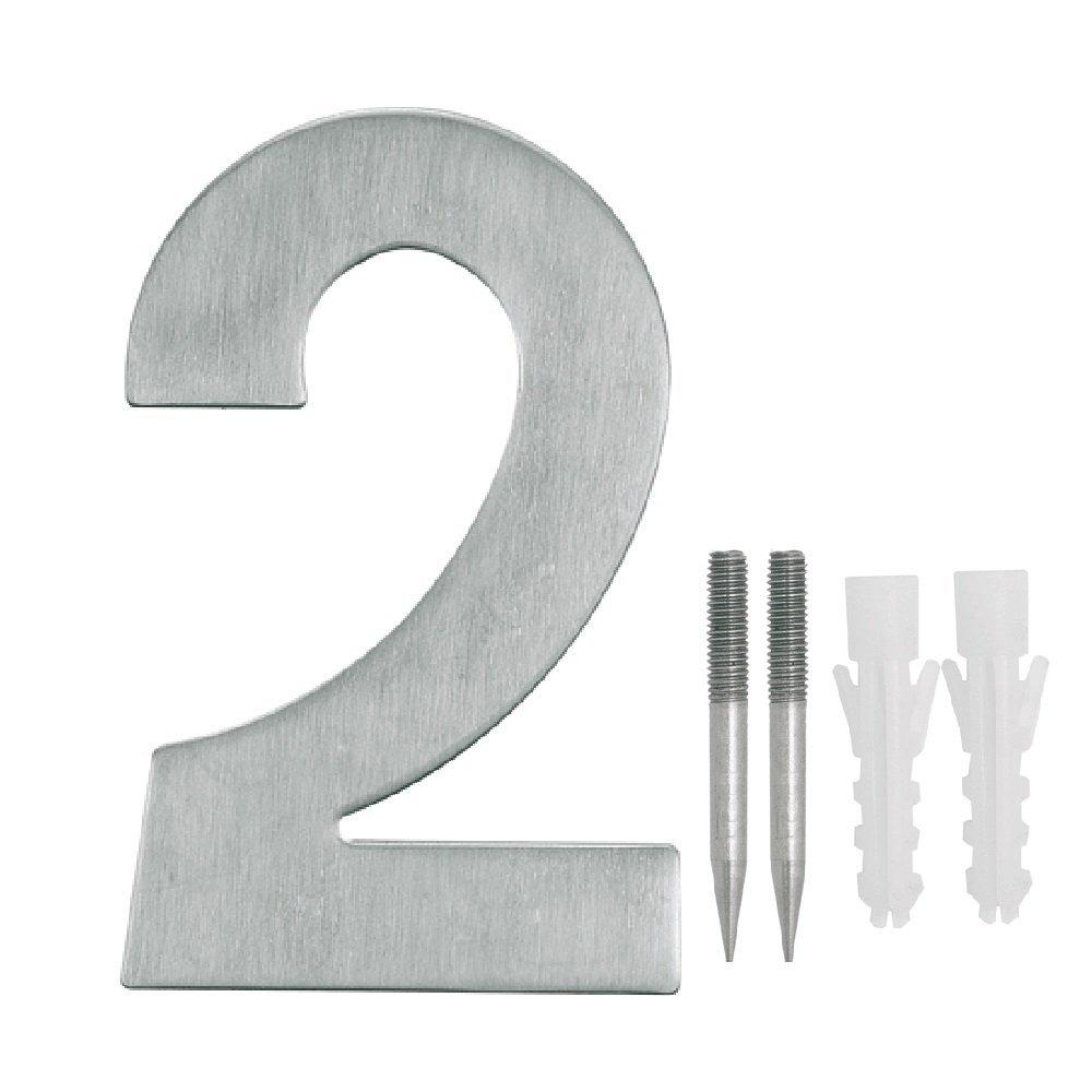 NUZAMAS - Juego de 2 placas para nú meros de puerta, acero inoxidable, placa para direcció n de hotel, 10,8 cm de ancho, 15 cm de alto, kit de instalació n incluido placa para dirección de hotel kit de instalación incluido