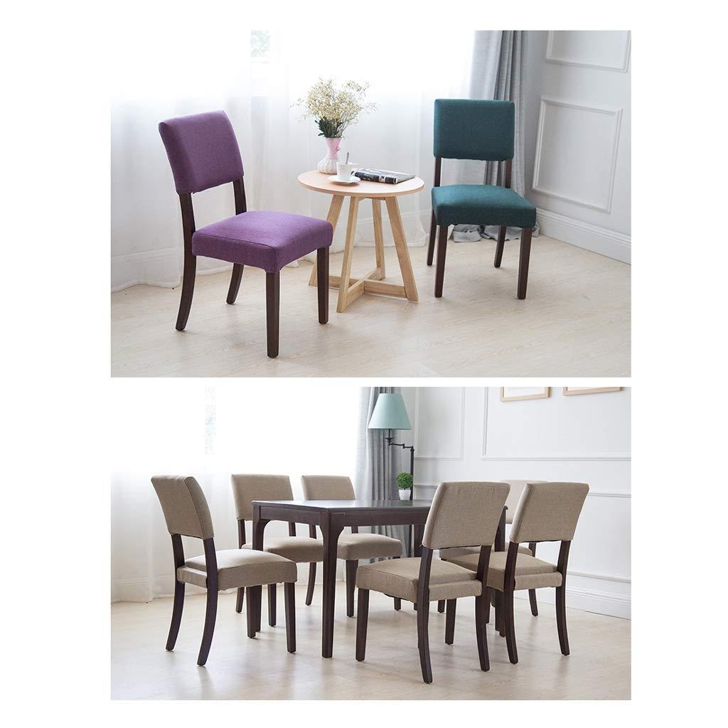 Amazon.com: Silla de comedor Ailj, silla de salón de madera ...