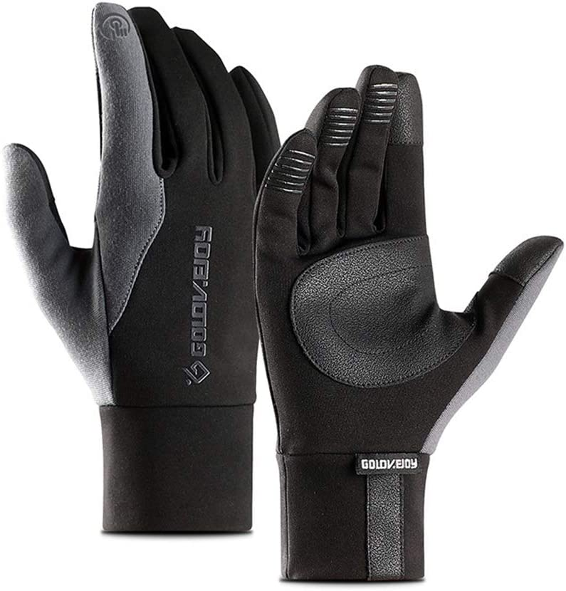 Rovtand Sports Gloves Winter Warm Outdoor Riding Winter Warm Sports Touch Screen, Men and Women Plus Velvet Simple Waterproof Full Finger Gloves: Amazon.es: Deportes y aire libre