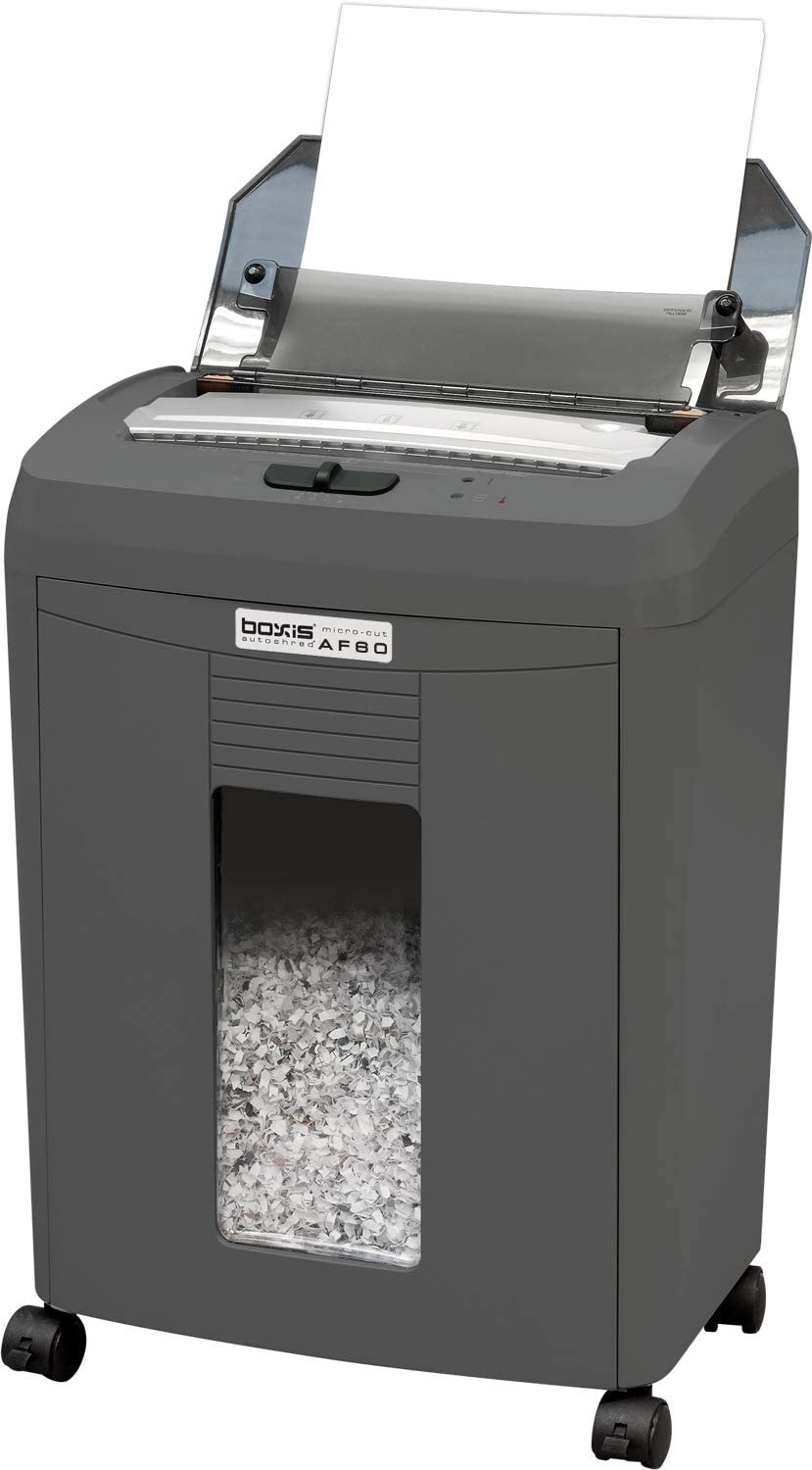 Boxis AutoShred 90-Sheet Auto Feed Microcut Paper Shredder