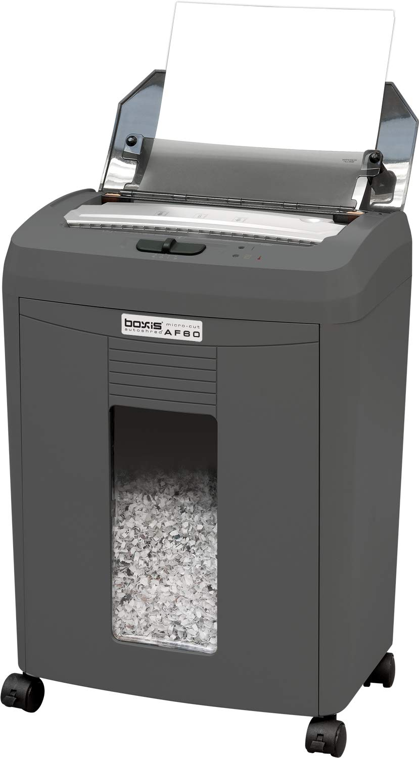 Boxis AF80 AutoShred 80-Sheet Micro Cut Paper Shredder ... (80-Sheet) by BOXIS