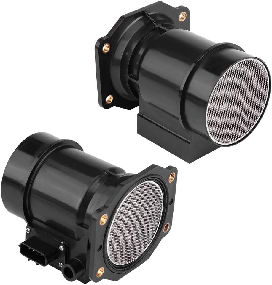 Terisass 22680-02U00 Car Mass Air Flow Meter Black MAF Meter Sensor for Nissan Skyline JDM R32 R33 1989 1990 1991 1992 1993 1994 1995