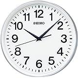 セイコー クロック 掛け時計 衛星 電波 アナログ 銀色 メタリック GP217S SEIKO