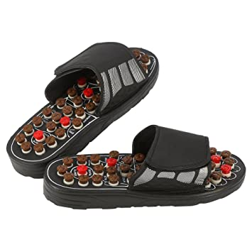 199c92c088968 Massage Slippers, Sandals with 41 Acupressure Points for Women and Men,  Massage Sandals Shoes to Reduce Foot Pain, Cobblestone Feet Sole Point ...