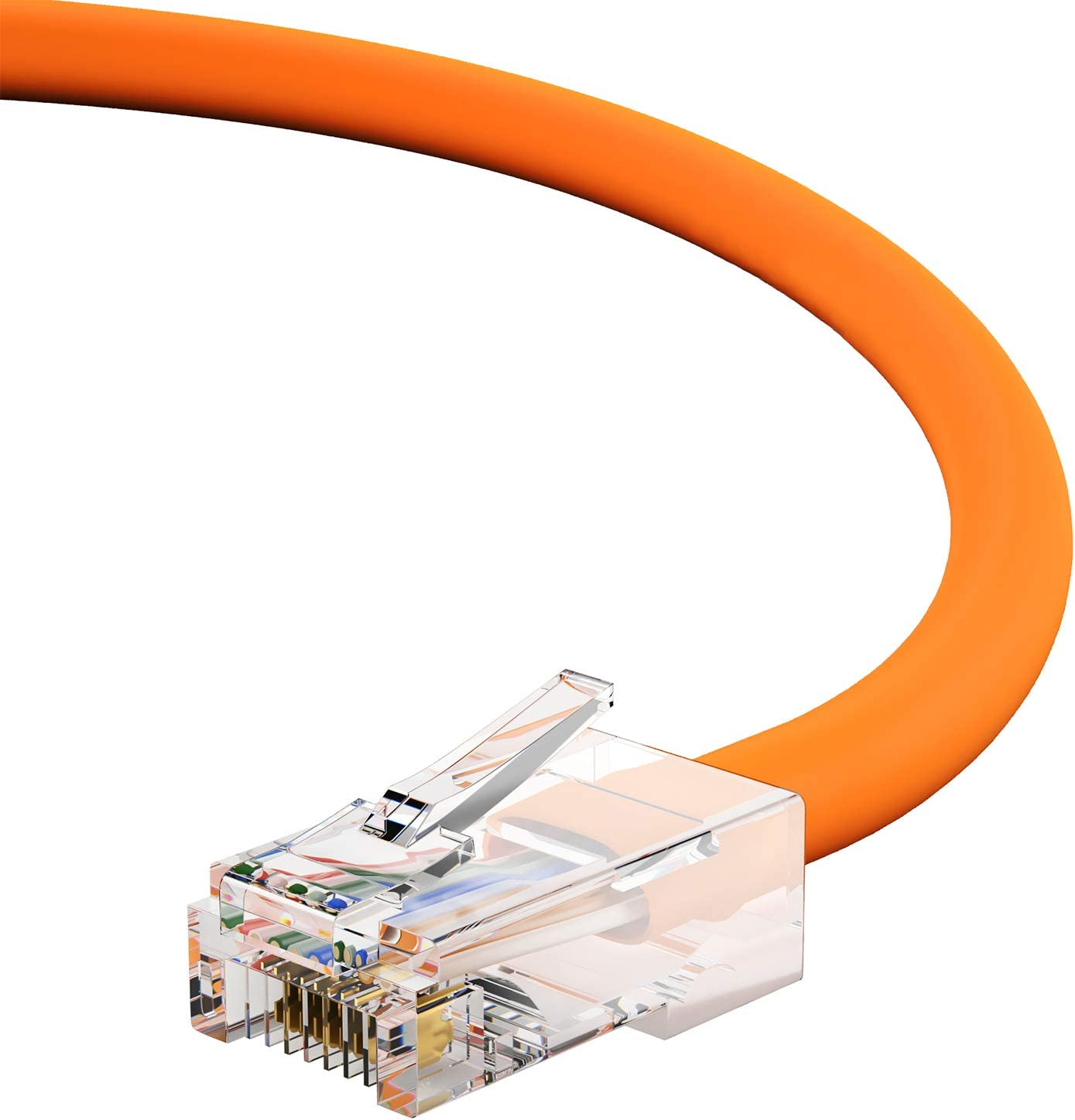 1Gigabit//Sec High Speed LAN Internet//Patch Cable 6 Feet - Orange GOWOS Cat5e Ethernet Cable 350MHz 24AWG Network Cable with Gold Plated RJ45 Non-Booted Connector