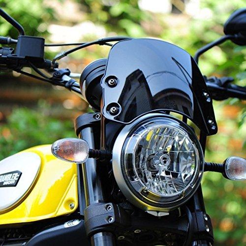 Ducati Scrambler all models Piranha Flyscreen screen wind protection black