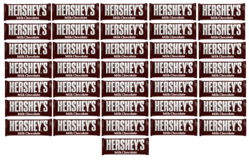 Hershey Bar Label - Hershey's Milk Chocolate Bar, 1.55-Ounce Bars (Pack of 36)
