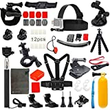 Vanwalk Basic Common Outdoor Sports Kit for GoPro Hero 5 / Session 5/4/3/2/1, Accessory Bundle Set for DBPOWER, Lightdow, SJCAM Action Video Cameras (23-in-1)