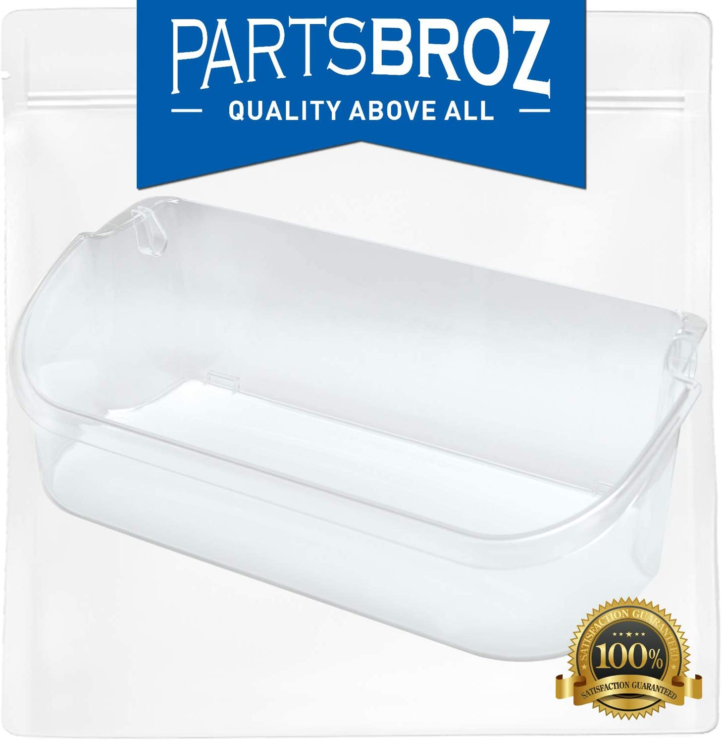 240356402 Clear Refrigerator Bin for Electrolux and Frigidaire, Upper Slot Replacement Shelf, Gallon Size by PartsBroz - Replaces Part Numbers AP2549958, 240430312, 240356416, 240356407, and more 612BKC64HOkL