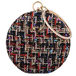Round Crystal Clutch Purses For Women