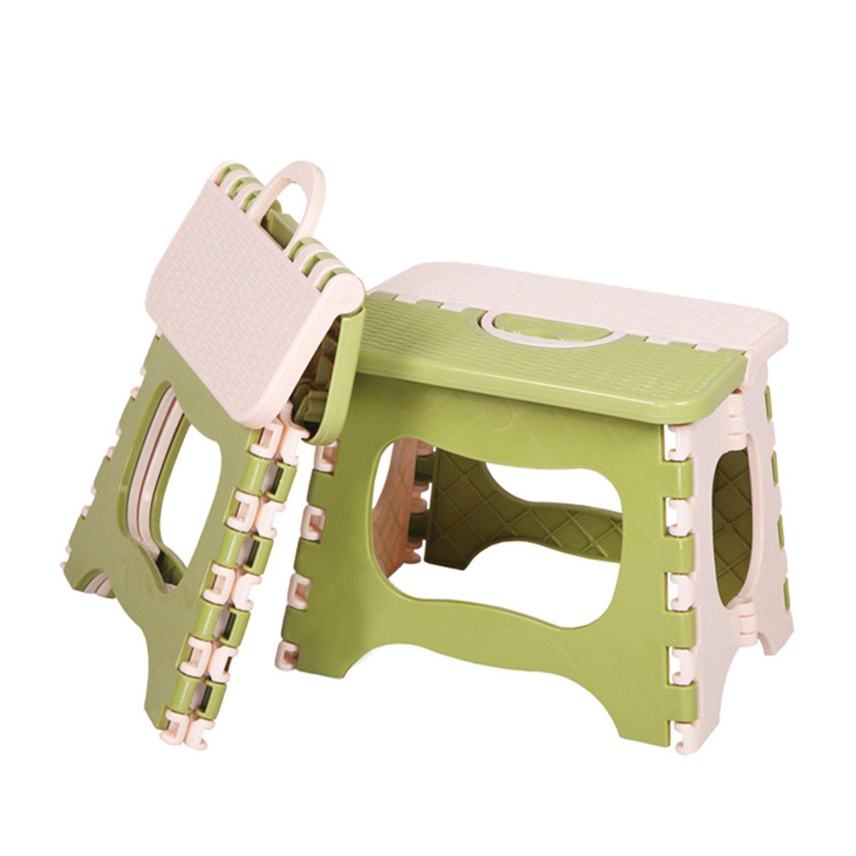 REVEW 2 Packs Folding Step Stool with Anti-Slip Surface and Handle Folding Stool Stepping Stool