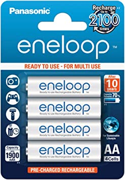 Panasonic Eneloop SY3052630 - Pack 4 Pilas Recargables, AA: Amazon.es: Electrónica