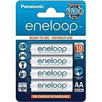 Panasonic eneloop, NiMH-accu gereed voor gebruik, AA mignon, verpakking van 4, 1900 mAh, 2100 laadcycli, met hoog…