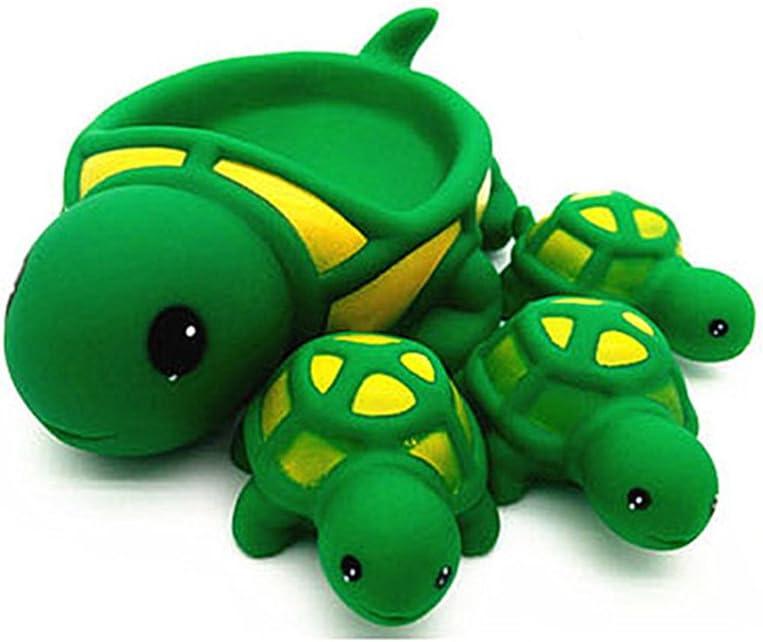 Big Crocodile Morbuy Jouets de Bain Un Grand Trois Petits Jouets de Bain Baby Bathing Jouets en Caoutchouc Souple Jouets pour Enfants Animaux Jouet de Son
