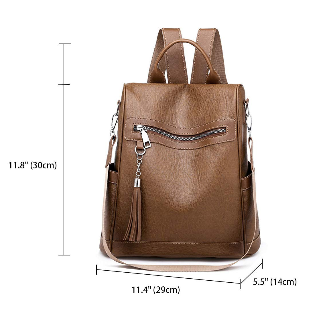 DEERWORD Womens Backpack Handbags Rucksack Shoulder Bags PU Leather Mini Kawaii