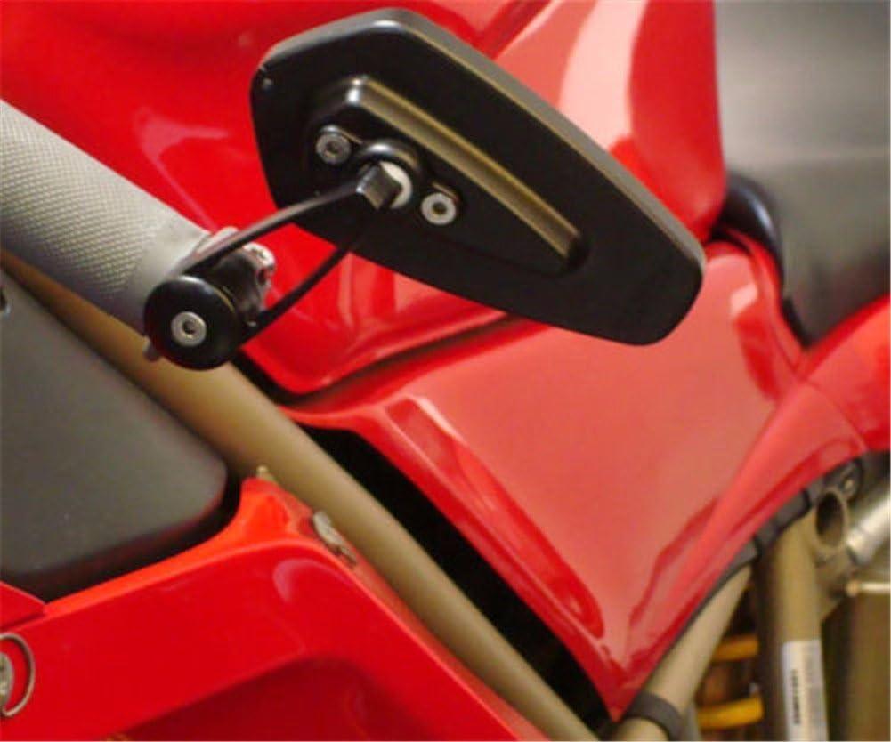 "7//8/"" 22mm Universal Motorcycle CNC Aluminum Arrow Bar End Side Black Mirrors"