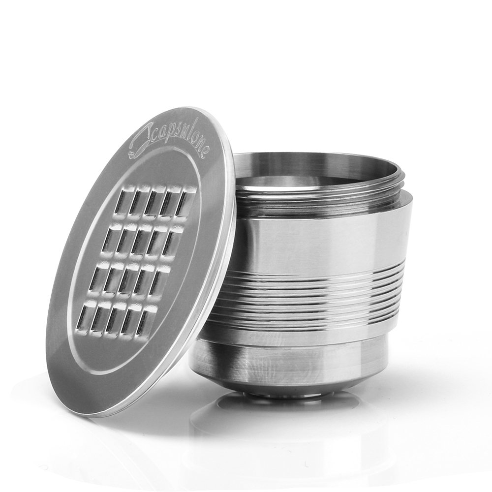 MG Coffee Food-Grade Stainless Steel Reusable Nespresso Capsule Permanent Coffee Pod Holder for Nespresso Original Line Machines with gifts (Square Hole) by MG Coffee
