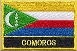 Comoros Country Flag Embroidered Blazer Badge Patch
