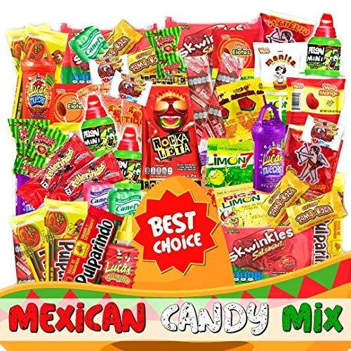 Mexican Candy Mix Assortment Snack (74 Count) Dulces Mexicanos Variety Of Best Sellers Spicy, Sweet, and Sour Bulk Candies, Includes Luca Candy, Pelon, Pulparindo, Rellerindo, etc...