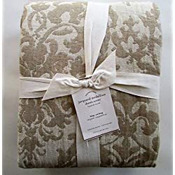 Pottery Barn JACQUARD MEDALLION Duvet Cover King/California King ~Ivory/Flax/Neutral~